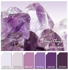 Purple Color Combination Inspired by Amethyst | Texture Online