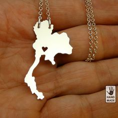 I heart THAILAND necklace  sterling silver necklace by StefanoArt, $40.00