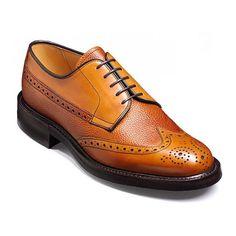 Barker Mens 'Livingston' Cedar Calf / Grain Country Brogue Shoe