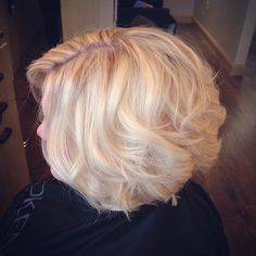 Blond bombshell!! #splashlights #iconsalonct #highlights #hair #invertedcut