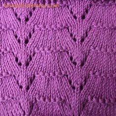 Fan knitting stitches