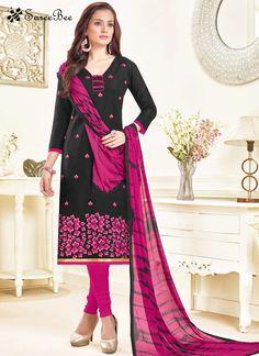 Black Linen Churidar Suit  For More Information WhatsApp 7202080091 Or Visit www.SareeBe.com #red #designer #kurti #fashionista #makeup #UK #outfitoftheday #women-fashion #model #indian #saree #ramadanmubarak #ethnic #picoftheday #cool #summer-style #streetstyle #beauty #styles #rakshabandhan #rakshabandhangift