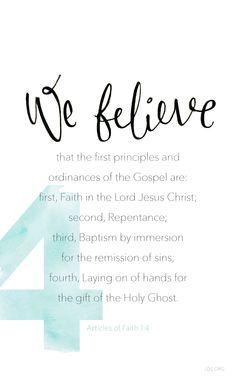 Article of Faith 1:4 #Faith