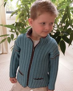 Boys Jacket with Pockets and Zip Front - P012