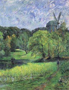The Queen's Mill   -   Paul Gauguin  1881  French 1848-1903  Oil on canvas,  92.5 x 73.4 cm  Impressionism  Ny Carlsberg Glyptotek, Copenhagen, Denmark