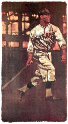 Arky Vaughan, SS Pittsburgh Pirates. Painting by Bernie Fuchs, 1979.