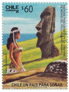 ISLA DE PASCUA, EASTER ISLAND , TEMATICAS SELLOS DE CHILE Torres Del Paine National Park, Vintage Tiki, Easter Island, Aesthetic Stickers, Love Stamps, Stamp Collecting, Science And Nature, Travel Posters, Postage Stamps
