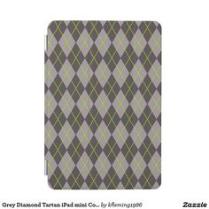 Grey Diamond Tartan iPad mini Cover