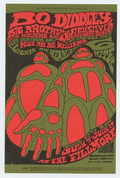 Bill Graham 071 Postcard Bo Diddley Big Brother and Holding Company 1967 Jul 4