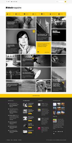 Block Magazine - Flat and Minimalist Blog Theme #web #magazine
