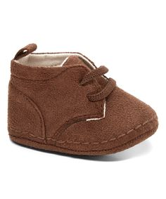 Love this Xeyes Brown Faux Suede Crib Shoes by Xeyes on #zulily! #zulilyfinds