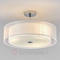 Plafonnier LED Pikka avec abat-jour blanc 157€ (chambre)  http://www.justleds.co.za