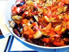 Caponata INGREDIENTS  3 eggplants cut in ½ inch cubes 2-3 tomatoes chopped 1 onion chopped 2 tablespoons capers rinsed ½ cup Greek olives kalamon cut in half 2-3 tablespoons olive oil 3 tablespoons red wine vinegar 2 tablespoons sugar 2 tablespoons fresh chopped basil Salt/Pepper