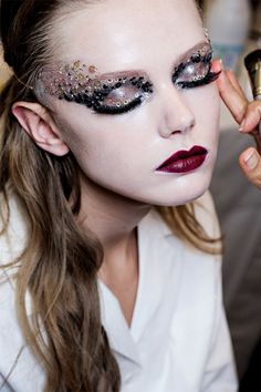 Frida Gustavsson backstage at Christian Dior Haute Couture Fall 2011