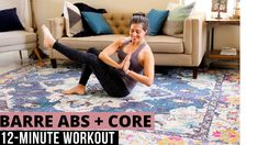 Sharing a short and sweet barre ab burner that you can do anywhere and work your core in 12 minutes. All you need is a mat. Let's set that core on firreeeeee. | Ab Workouts At Home | The Fitnessista Full Body Workout Routine, Workout Routines For Beginners, Abs Workout Routines, Ab Workout At Home, Workout Schedule, At Home Workouts, Barre Workouts, Beginner Workout Program, Workout Programs