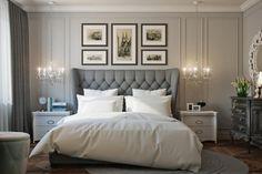 Спальная комната в оттенках серого - Галерея 3ddd.ru