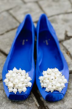 Kate Spade flats in blue Blue Flats, Blue Shoes, White Flats, Blue Wedding Shoes, Wedding Dress, Kate Spade, Shoe Clips, Something Blue, Shoe Closet