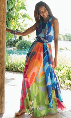 Soft Surroundings. Oh how I wish I would have had this to wear this summer!! Love the style and color!!