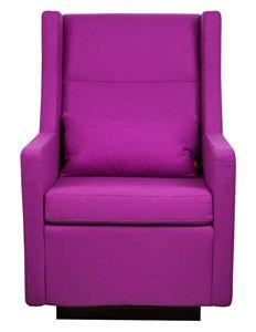 gus*modern sparrow glider and ottoman - boli/purple - ABC Carpet & Home