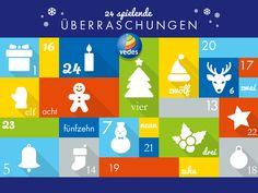 Freut euch auf den VEDES-Adventskalender! Ab dem 01. Dezember gibt es 24 spielende Überraschungen zu gewinnen.