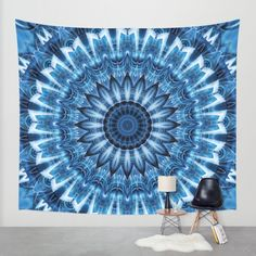 Up to $18 Off + Free Worldwide Shipping on Art Prints & Tapestries - Today Only! Buy Mandala cool blue Wall Tapestry by Christine baessler. Worldwide shipping available at Society6.com. Just one of millions of high quality products available.