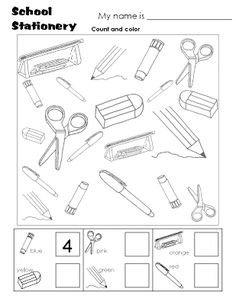 Printables School Worksheets For Kids school objects matching bw worksheets pinterest for see more about coloring worksheet pdf free download to print and color nice general pages color