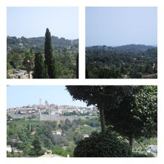 Lunch at the restaurant of Alain Llorca in La Colle sur Loupe with a view of St. Paul de Vence.