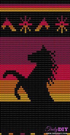 Tapestry Crochet Patterns, Crochet Quilt, Crochet Stitches Patterns, Crochet Chart, Cross Stitch Patterns, Native Beading Patterns, Seed Bead Patterns, Mochila Crochet, Loom Bracelet Patterns