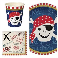 Pirate themed party pack for 12 guests - Pirate party - Fabulous Partyware Pirate Theme, Pirate Party, Party Bag Toys, Party Themes For Boys, The Perfect Girl, Party Packs, All In One, Pirates, Party Ideas