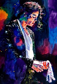 Michael Jackson — don't know who the portrait artist is, but I love the use of color and value; it makes this portrait GLOW.