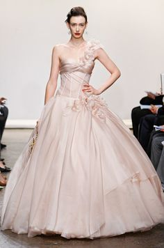 Pink wedding dress from Ines Di Santo, Spring 2013