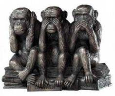 Os Três Macacos Sábios (reflexão - cotidiano)