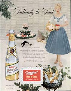 1954 Miller ad . . .Vintage beers ads