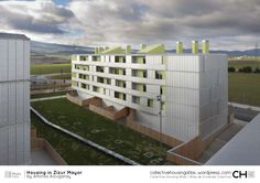 Built by Alfonso Alzugaray in Zizur Mayor, Spain with date Images by J. We were supposed to build a unit defined by the Ardoi partial plan in the town of Zizur mayor. Like in almost all urb. Arch House, Tower Block, Facade, Multi Story Building, Design Inspiration, Outdoor Structures, Gallery, Composition, 1