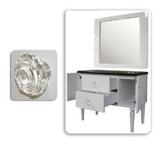 The Blakely Styling Station in White