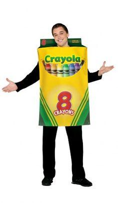 Déguisement Boîte De 8 Crayons Crayola© - Adulte