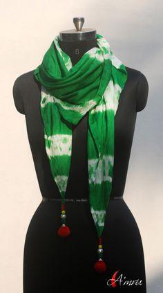 Dip dyed silk scarf