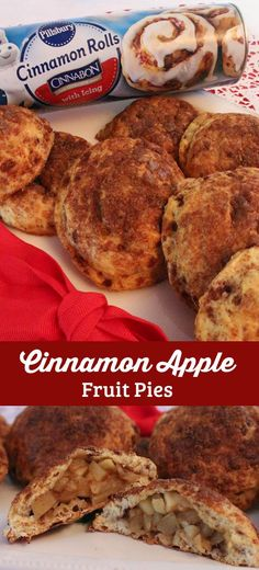 Cinnamon Apple Fruit Pies are a wonderful alternative to regular pie this Thanksgiving or Christmas season. We've transformed Pillsbury Cinnamon Rolls into delicious Christmas treats that your family will love. Check out this fun Christmas dessert that is both easy to make and super delicious. And follow us for more great Christmas Food ideas.