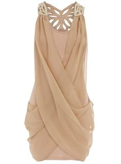 Nude dress - Pearl butterfly back - Dorothy Perkins