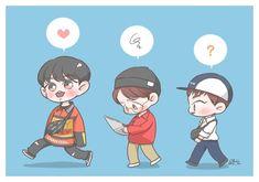 <credits to owner> Baekhyun Fanart, Chanbaek Fanart, Chanyeol, Kyungsoo, Kpop Fanart, Exo Cartoon, Exo Anime, Exo Fan Art, Fanarts Anime