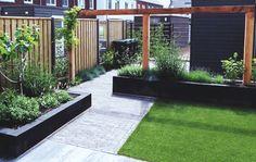 Pergola With Retractable Roof Small Backyard Gardens, Small Backyard Landscaping, Back Gardens, Outdoor Gardens, Backyard Seating, Backyard Patio Designs, Brick Patterns Patio, Dream Garden, Garden Inspiration