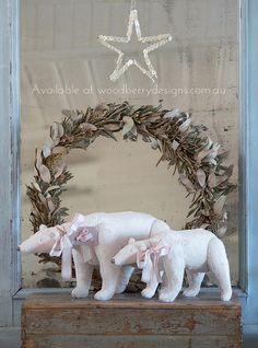 ི৲(ྀ ♪♪ლ(╹◡╹)ლ♪♪♥♥Shabby Art Boutique Tilda 4 Pink Christmas, Handmade Christmas, Christmas Time, Christmas Crafts, Christmas Wreaths, Christmas Decorations, Christmas Ideas, Paper Craft Supplies, Paper Crafts