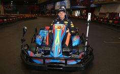 Max Verstappen of the Netherlands and Red Bull Racing attends a karting event during previews to the Formula One Grand Prix of China at Shanghai International Circuit on April 5, 2017 in Shanghai, China.
