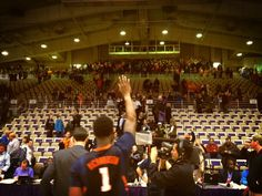 """""""I heard about this when I first got here, that the Orange Krush always goes to one away game,"""" transfer Sam McLaurin said. """"When we saw them up there it was surprising, but it was great.""""  The Illinois players and coaches were mobbed by Illini fans on the floor after the game. They took time to sign autographs and pose for photos.  """"People care. We're very, very fortunate and very, very blessed,"""" Illini coach John Groce said."""