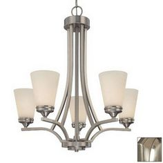 Galaxy 5-Light Franklin Brushed Nickel Chandelier