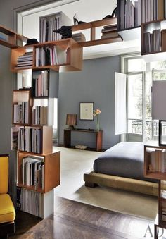 10 Confident Cool Tricks: Room Divider Desk Woods glass room divider home.Glass Room Divider Home. Wooden Room Dividers, Hanging Room Dividers, Sliding Room Dividers, Book Dividers, Modern Master Bedroom, Contemporary Bedroom, Trendy Bedroom, Bookshelf Room Divider, Bedroom Divider