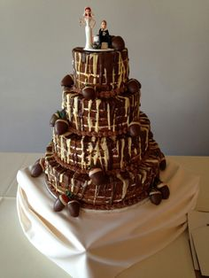 Chocolate Chip Cookie Wedding Cake