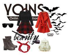 """YOINS BLACK SKATTER DRESS"" by ernyy ❤ liked on Polyvore"