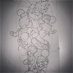 Would love to tattoo this Dragon ball z sleeve #dragonball #dragondallz…