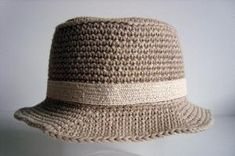 Crochet Banded Bucket Hat - Tutorial by SandieB